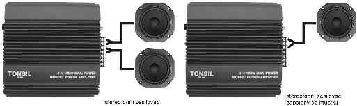 """Obr. 2Zapojení """"zesilovače"""":http://www.dexon.cz/vysledky-vyhledavani.php?text=zesilova%C4%8D&zpusob=1&kat=1&cl=&por=&inz=&t=Zesilova%C4%8De+#hlavni-menu stereofonně a domůstku"""